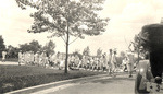 Naval cadets on the lawn of the Great Lakes Naval Training Center by Frank W. Guilbert