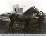 H. M. Showalter and Horse by Unknown