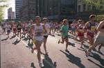 Bloomsday runners on Riverside Avenue in 1989 by Eastern Washington University