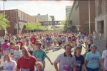 Bloomsday runners in front of River Park Square in 1989 by Eastern Washington University