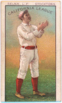 Charles Selna Stockton baseball card by S.F. Hess and Co.