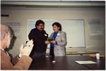 Carlos Maldonado receiving an award
