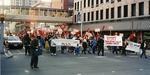 Activists marching in Spokane