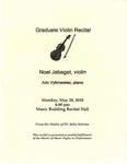 Graduate Violin Recital Noel Jabagat