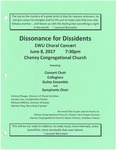 Dissonance for Dissidents Choral Concert
