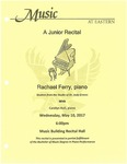 Rachael Ferry A Junior Recital, piano