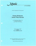 Emma Robinette Senior Flute Recital by Emma Robinette, Joshua Lindberg, Cristian Garcia, and Andrew Sauve