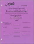 Trombone and Flute Solo Night by Eric Gooler, Sarah Neill, Cristian Garcia, Billy Taylor, Soren Mahmood, Eryn Smith, Matthew Peterson, Kyra Townsend, Richard Shackley, Jennifer Baird, Robyn Bowles, Erica Pollard, and Emma Robinette