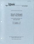Brian D. McDougall Senior Voice Recital