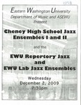 Cheney High School Jazz Ensembles I and II and the EWU Repertory Jazz and EWU Lab Jazz Ensembles by Cheney High School Jazz Ensembles I and II, EWU Repertory Jazz Ensemble, and EWU Lab Jazz Ensemble