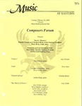 Composers ForumSam by Sam Neiland, Natasha Vanderlinden, Jacob Furney, Andrea Hope, Alex Wolfe, Brian Mueller, Jessie Leek, Kyle Smith, Chris Newbury, and Steve Heffner