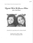 Elizabeth Woods & Shannon Baker Junior Vocal Recital by Elizabeth Woods and Shannon Baker