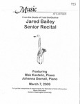 Jared Bailey Senior Recital by Jared Bailey, Mak Kastelic, and Johanna Darnall