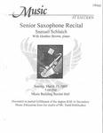 Samuel Schlaich Senior Saxophone Recital