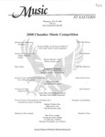 2008 Chamber Music Competition