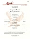 Composers Forum Music of Landscapes