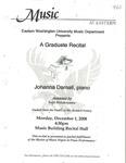 Johanna Darnall, piano a Graduate Recital by Johanna Darnall and Yuki Hatakeyama