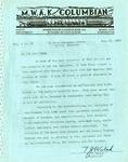 M.W.A.K. Columbian, Vol.  3, No.  30