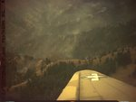 Forest fire photographed out of 555th Parachute Infantry troop carrier by United States. Army Air Forces
