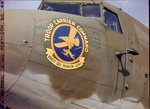 Troop Carrier Command logo on side of 555th Parachute Infantry troop carrier by United States. Army Air Forces