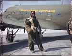 Lieutenant Clifford Allen of the 555th Parachute Infantry in jump gear by United States. Army Air Forces