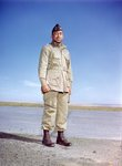 Captain Charles James Burks, a surgeon for the 555th Parachute Infantry in jump gear by United States. Army Air Forces