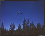 C-47 troop carrier flying over trees in the Umatilla National Forest in Oregon by United States. Army Air Forces