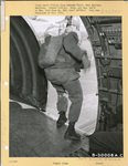 555th Parachute Infantry troop about to jump from a troop carrier by United States. Army Air Forces