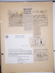1964 All Women's Transcontinental Air Race memo and newspaper articles by unknown