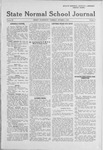 State Normal School Journal,, October 03, 1918