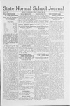 State Normal School Journal, October 28, 1921