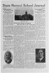 State Normal School Journal, April 21, 1922