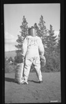 Original one-piece jump suit rear view by David P. Godwin
